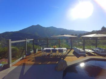 Mt. Tamalpais executive residence pool and outdoor dining